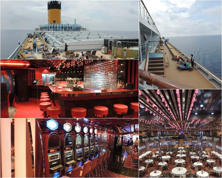 Navios contam com ambientes diversificados e várias opções de lazer